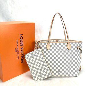 Louis Vuitton Neverfull MM  cream bag